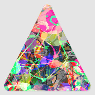 Colorful Creative Chaos Triangle Sticker