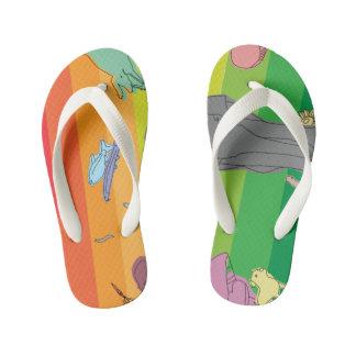 Colorful Creatures Kid's Flip Flops