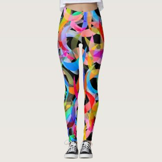 Colorful Crescent Design on Leggings