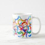 Colorful Crescent Moons on Coffee Mug