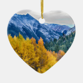 Colorful Crested Butte Colorado Ceramic Ornament