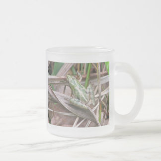 Colorful Cricket Frog Frosted Glass Coffee Mug
