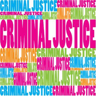 Colorful Criminal Justice Cut Out