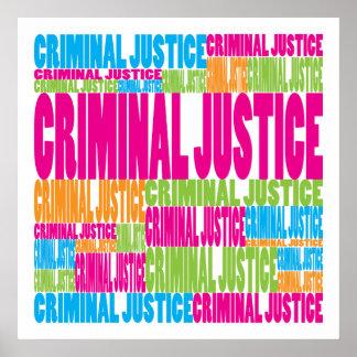 Colorful Criminal Justice Poster