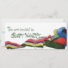 Colorful Crochet Craft Night Invitation
