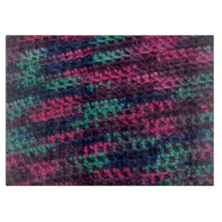Colorful Crochet Cutting Board