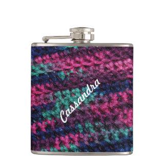 Colorful Crochet Hip Flasks