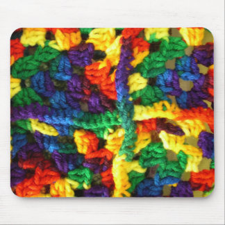 Colorful Crochet Mouse Pad