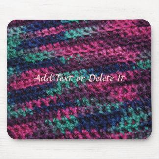Colorful Crochet mousepad
