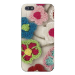 colorful crocheted flowers cover for iPhone 5