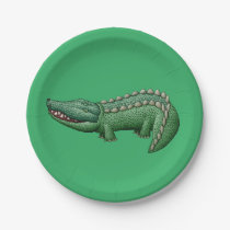 Colorful Crocodile Paper Plate