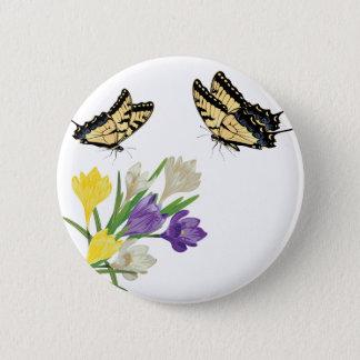 Colorful Crocus Flowers2 Pinback Button