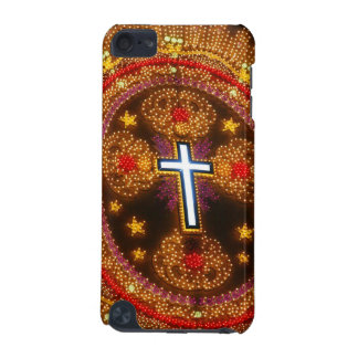 Colorful cross of lights iPod touch (5th generation) case