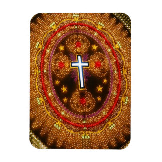 Colorful cross of lights rectangular photo magnet