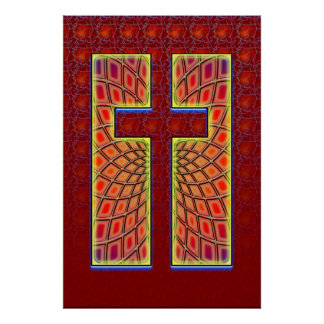 COLORFUL CROSS POSTER