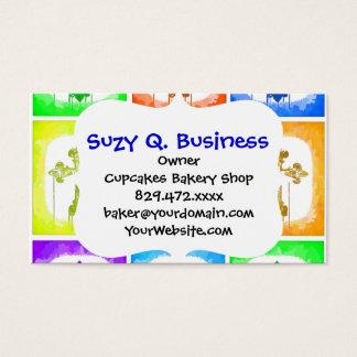 Colorful Crosses Christian Pop Art Business Card