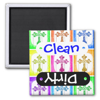 Colorful Crosses Christian Pop Art Magnet