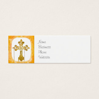 Colorful Crosses Christian Pop Art Mini Business Card