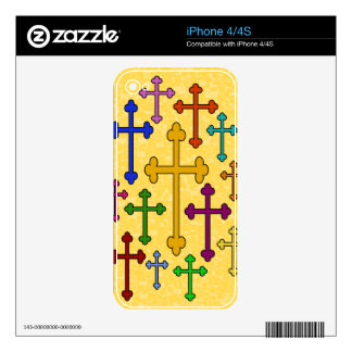 COLORFUL CROSSES iPhone Skin iPhone 4 Skin