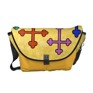 COLORFUL CROSSES Messenger Bag