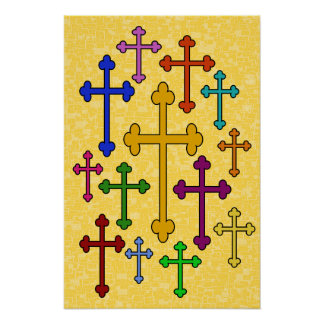 COLORFUL CROSSES Poster