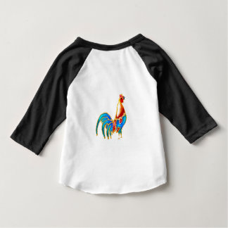 Colorful crowing rooster tshirt