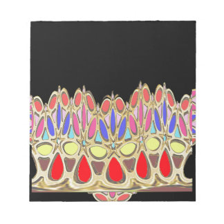 Colorful crown gifts add Greeting Wisdom Quote Notepad