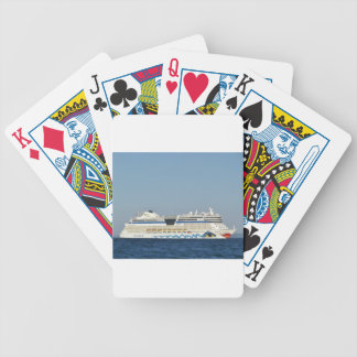 Colorful Cruise Ship Bicycle Playing Cards