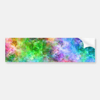 Colorful Crumpled Texture Bumper Sticker