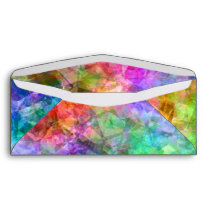 Colorful Crumpled Texture Envelope