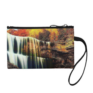 Colorful Crystal Clear Waterfall Key Coin Clutch