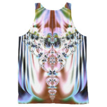 Colorful Crystal Fractal All-Over-Print Tank Top