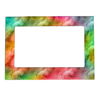 Colorful Crystal Glass Pattern Magnetic Frame