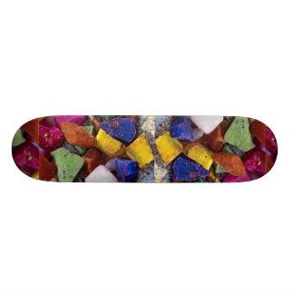 Colorful Crystals Custom Skateboard