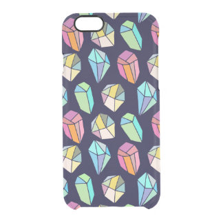 Colorful Crystals Cute Hand Hade Pattern Clear iPhone 6/6S Case