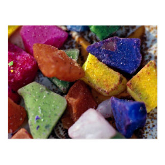Colorful Crystals Postcard