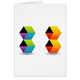 colorful cubes and shadow card
