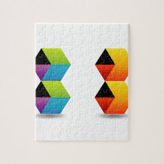 colorful cubes and shadow puzzles