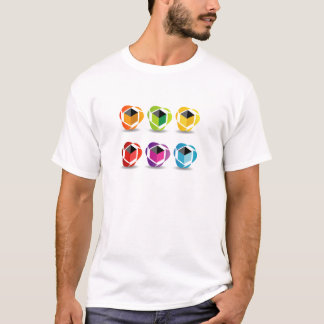 colorful cubes and shadow T-Shirt