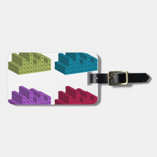 colorful cubes bag tag