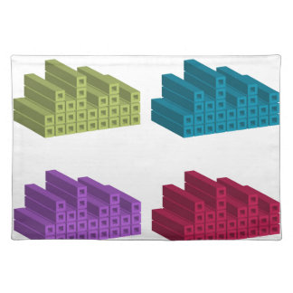 colorful cubes cloth placemat