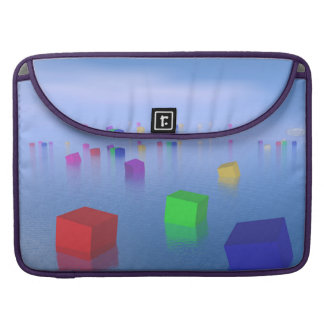 Colorful cubes floating - 3D render Sleeve For MacBook Pro