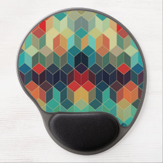 Colorful Cubes Geometric Pattern 2 Gel Mouse Pad
