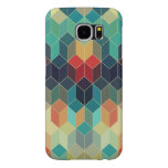 Colorful Cubes Geometric Pattern 2 Samsung Galaxy S6 Cases