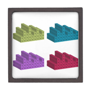 colorful cubes gift box