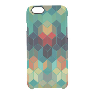 Colorful Cubes Modern Pattern Clear iPhone 6/6S Case