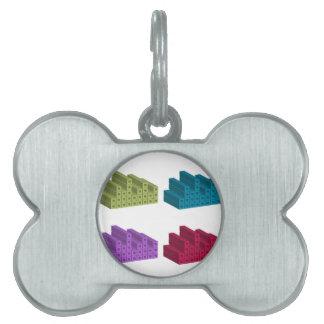 colorful cubes pet tags