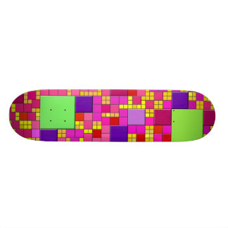 Colorful Cubes Skateboard