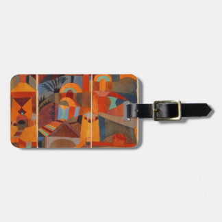 Colorful Cubism Abstract Temple Gardens by Paul Kl Bag Tag