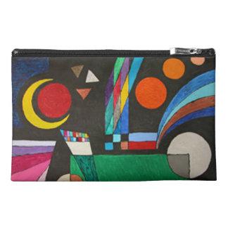 Colorful Cubism Moon Stars Geometric Art Travel Accessory Bags